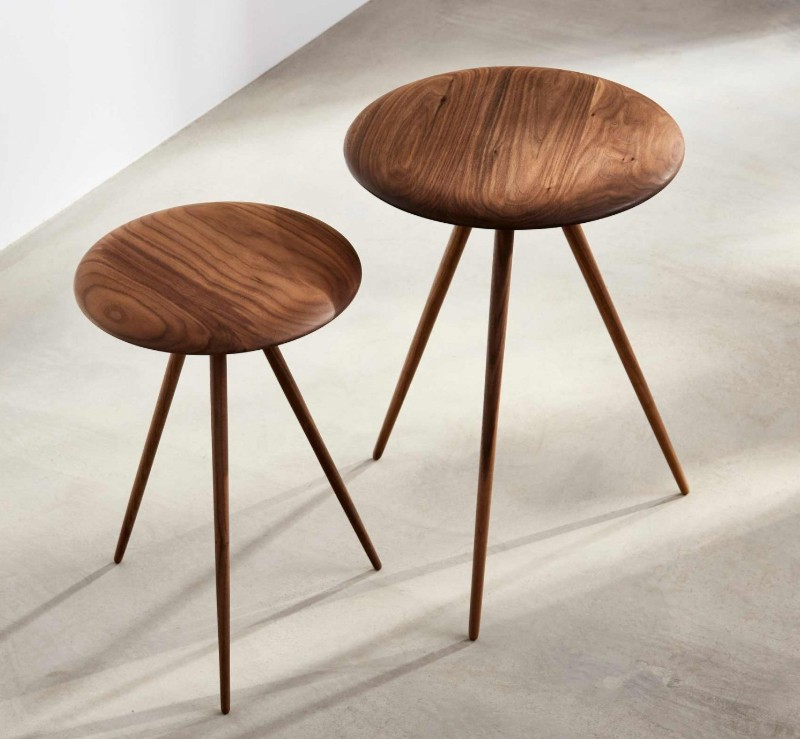 Puck eco friendly wood tables by Benchmark