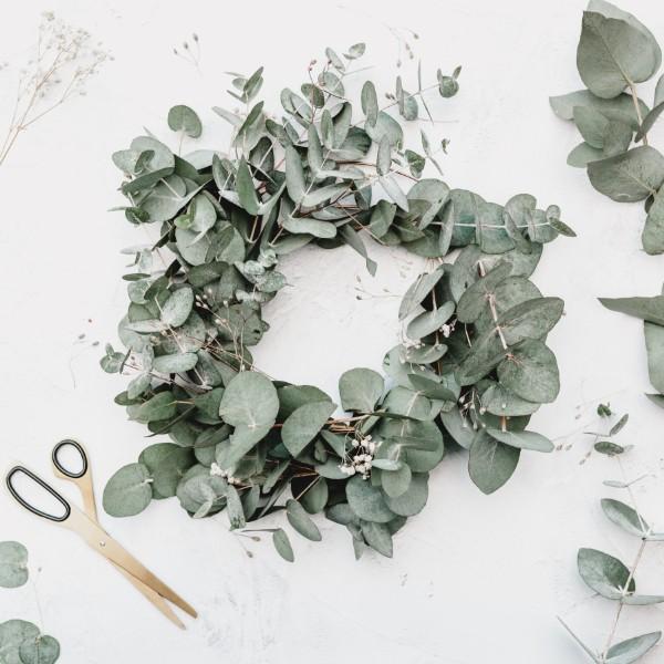natural eucalyptus eco friendly christmas decor
