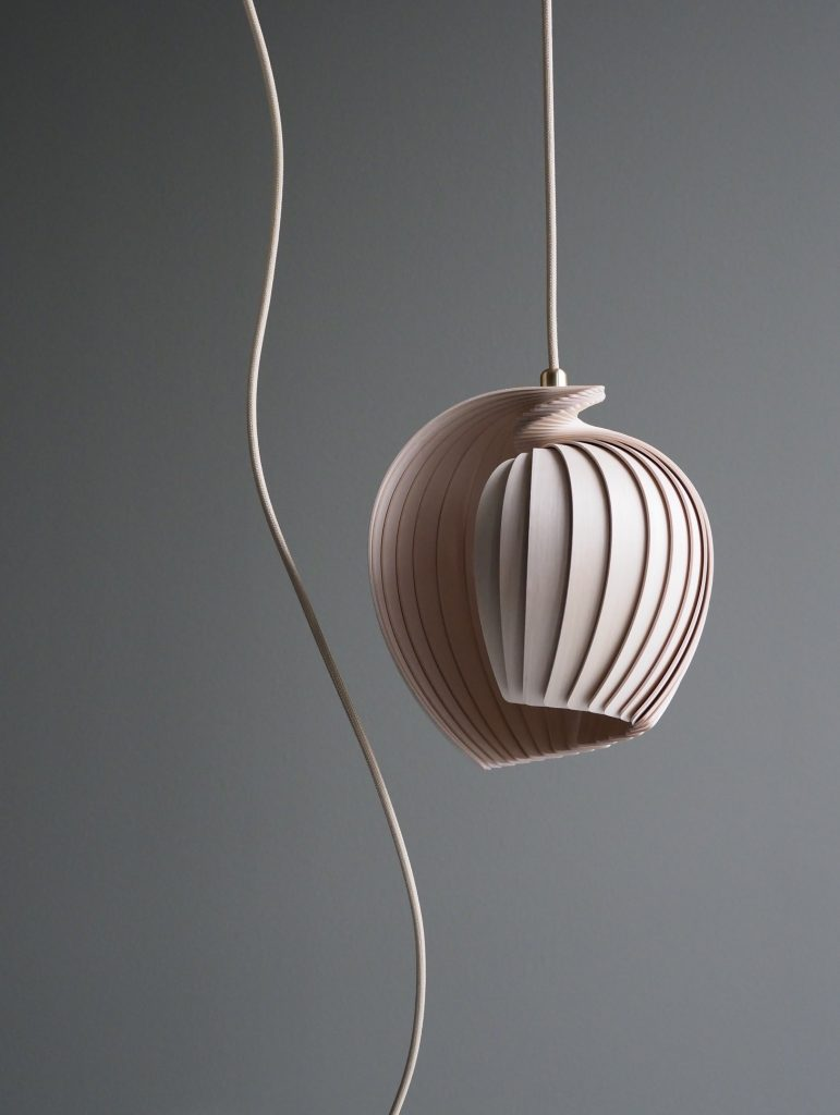 Birch wood pendant light by Kovac