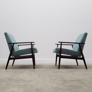 Vintage 1960 Henryk Lis Mid Century Armchairs