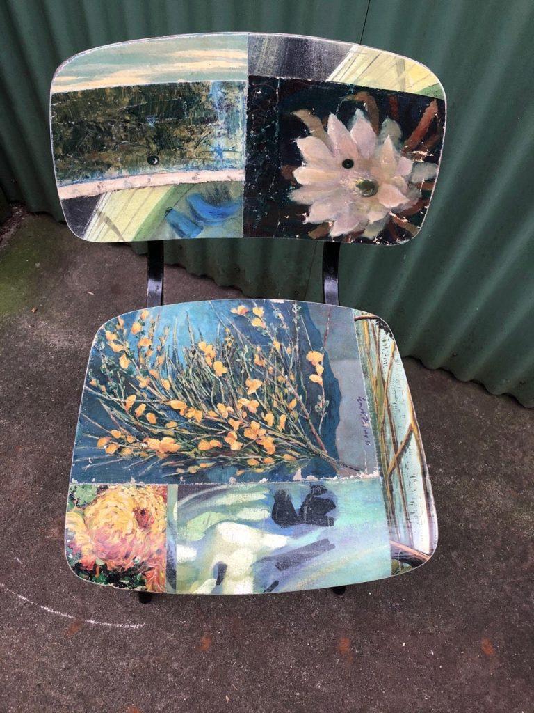 Painting chair by Leslie Oschmann