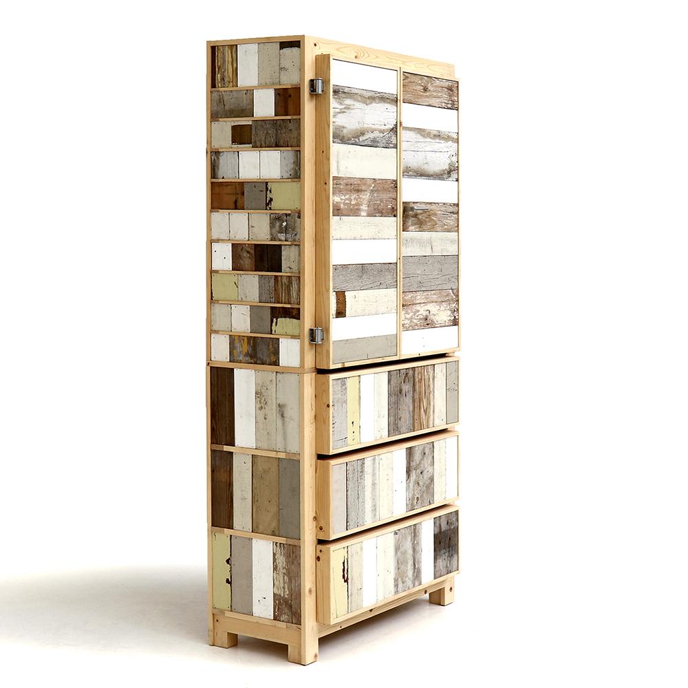 Classic cabinet in scrapwood by Piet Hein Eek