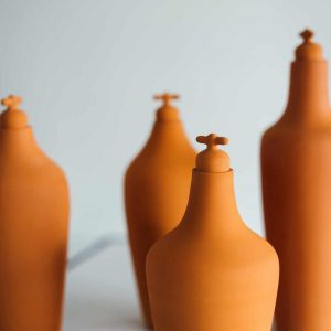 Dune terracotta tap water carafe