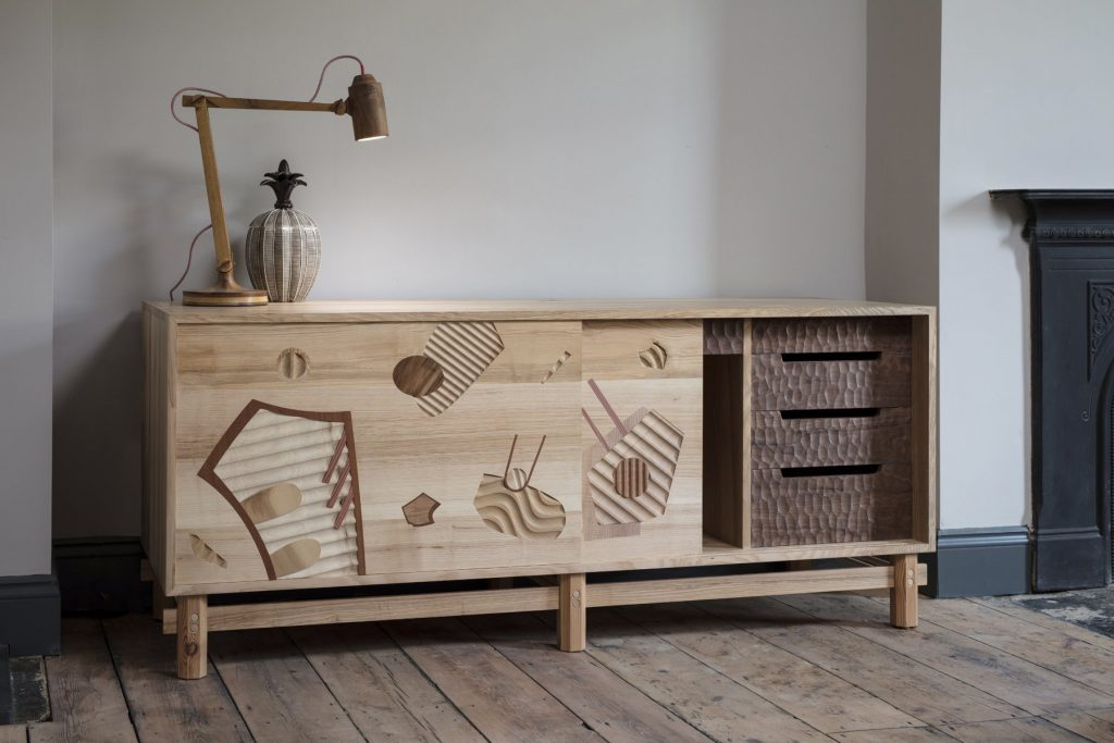 Cabinet made from reclaimed wood by Jan Hendzel
