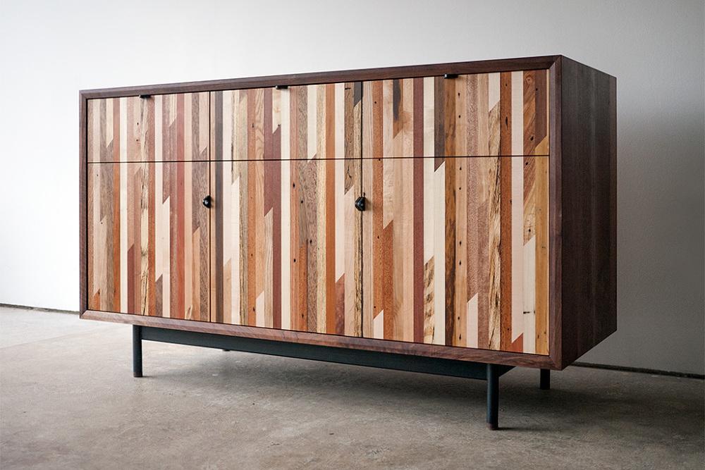 Reclaimed wood sideboard by Jamieson Sellers