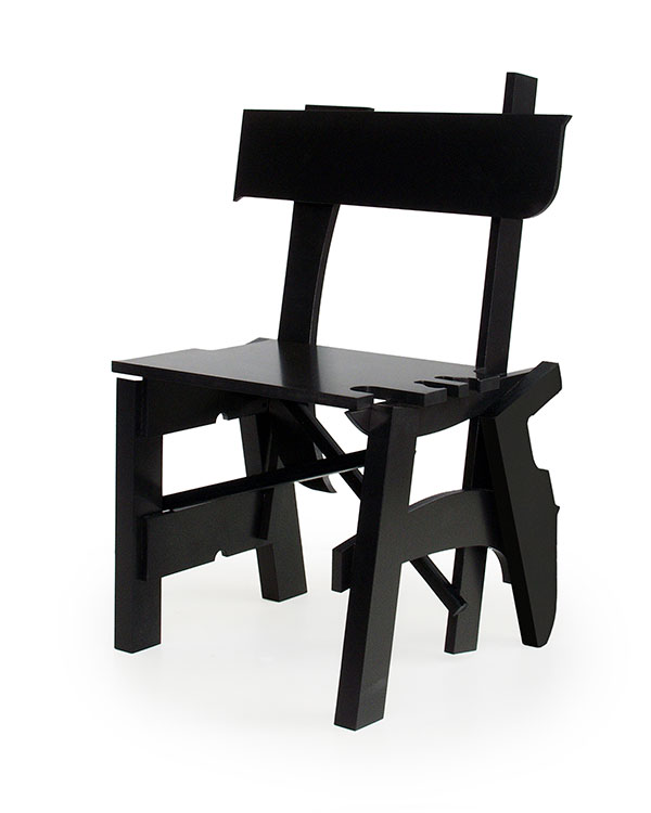 Treasure chair made from salvaged wood by Maarten Baas