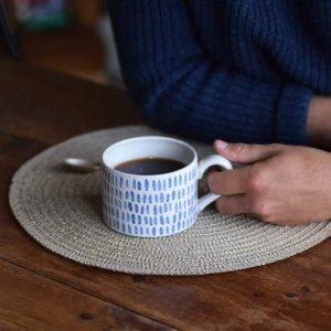 hand-painted handmade ceramic mug