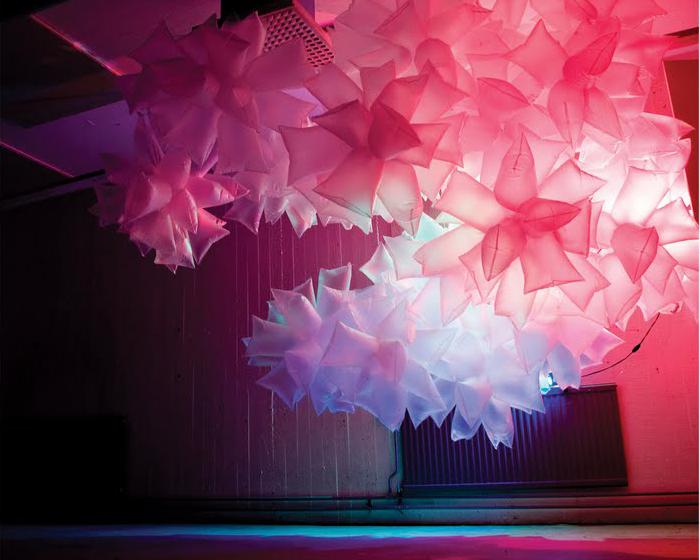 Plastic bag art installations by Robert Janson